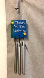 "5"" Thanks For The Learning Windchime 