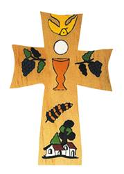 "5"" Wooden First Communion Cross From El Salvador"