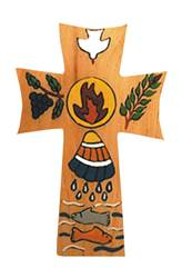 "5"" Wooden RCIA Cross From El Salvador"
