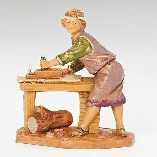 "Herschel Young Carpenter 5"" Fontanini Nativity Figurine"