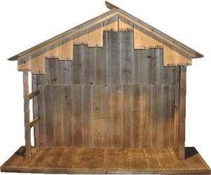 "50"" Wood Nativity Stable"