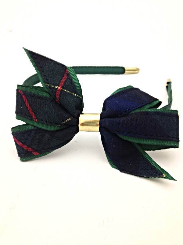 Headband with Bow, #55 Plaid