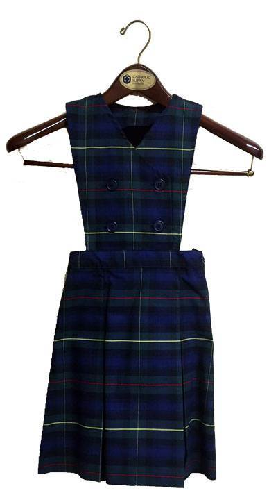 #55 Plaid Double Breasted Bib Jumper with Box Pleats *WHILE SUPPLIES LAST*