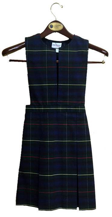 #55 Split Bib Uniform Jumper with Box Pleat Skirt 55 plaid jumper, 17455 plaid jumper, 17455, 17455 jumper, 55 plaid, #55 plaid, drop waist jumper, plaid school uniform jumper, plaid jumper, school uniform jumper, school uniform dress, plaid dress, belair, dennis belair, dennis belair plaid, belair plaid