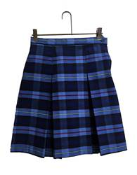 #41 Plaid Box Pleat Uniform Skirt