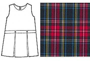 #56 Drop Waist Uniform Jumper 19456, 9456 jumper, #56 plaid, 56 uniform plaid jumper, 56 uniform plaid, girls plaid uniform jumper, macbeth, dennis macbeth plaid, dennis macbeth, macbeth plaid