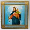 "5.5"" Maria Ausiliatrice Our Lady Help of Christians Wood Plaque from Italy"