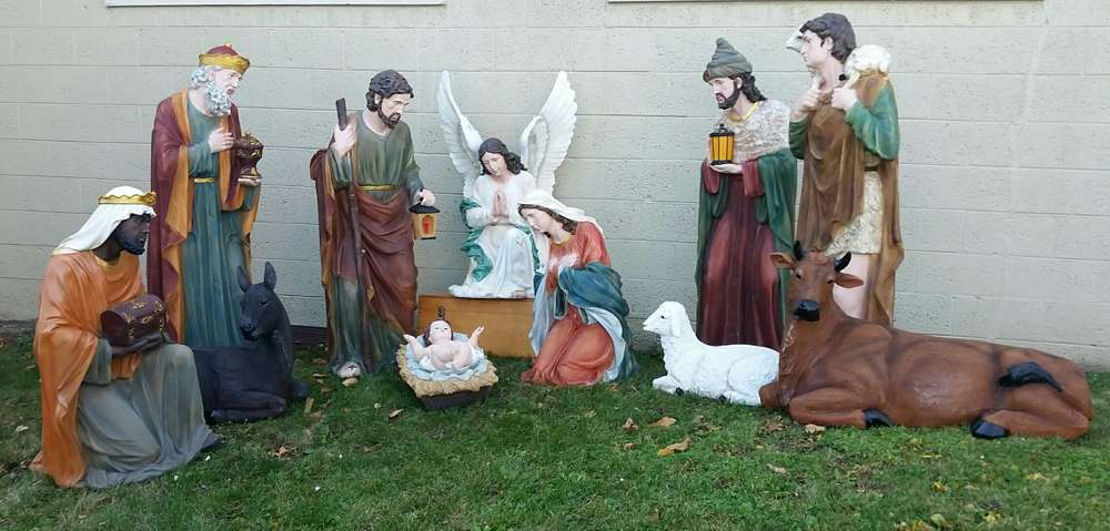 "59"" Colored Nativity Set - Fiberglass *SOLD OUT; ADVANCE ORDERS ACCEPTED FOR SPRING 2019 DELIVERY* - 53385"