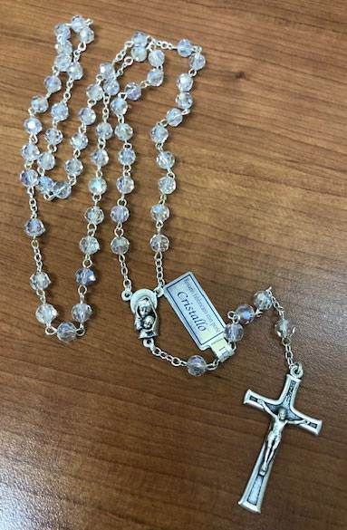 5mm Crystal Rosary From Italy