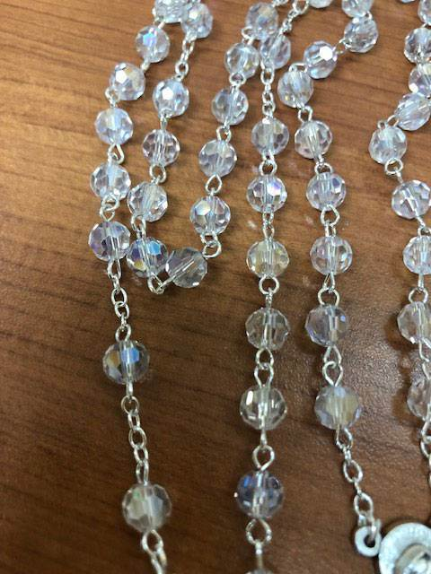 5mm Crystal Rosary From Italy - 10059