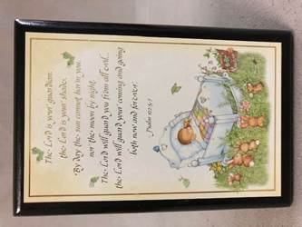 "6.5"" Psalm 122:5-7 Baby Wall Plaque 