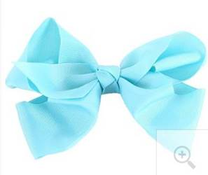 "Grosgrain 6"" Baby Blue Hair Bow"