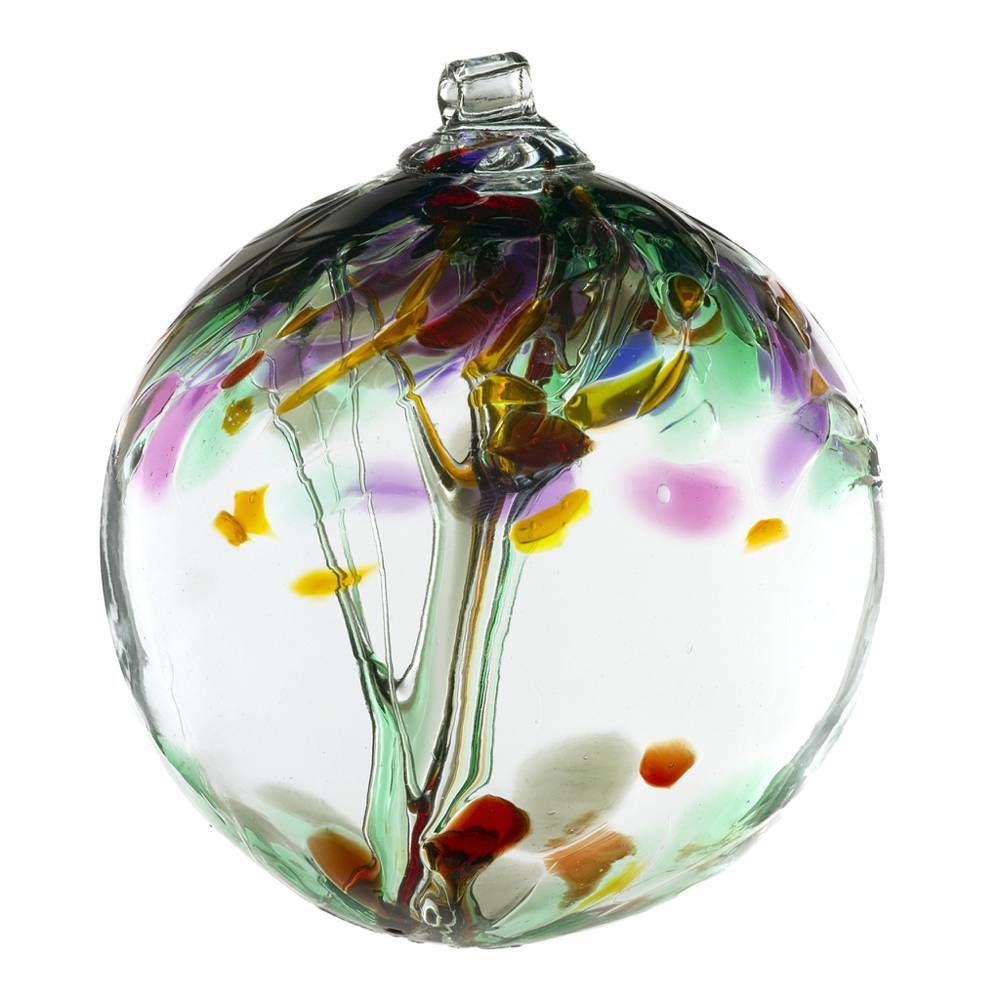 "6"" Blown Glass Remembrance Ornament"