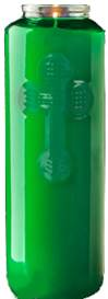 6 Day Green Bottlelight Glass Candle, Case of 12