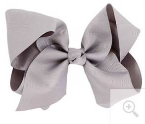 "Grosgrain 6"" Grey Hair Bow"