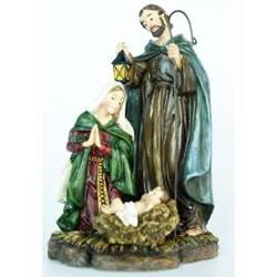 "6"" Resin Holy Family Statue"