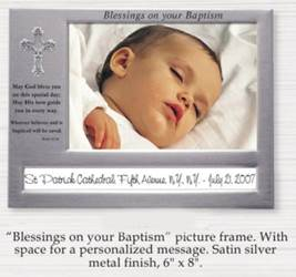"6"" X 8"" Blessings on Your Baptism Frame"