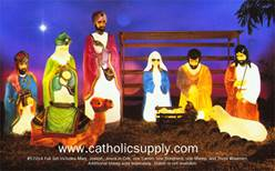 "60"" Scale Lighted Outdoor 10 Piece Nativity GF60, holy family, outdoor nativity, lighted yard decor, lighted nativity, christmas gift, christmas decor, yard decor, church gift, church items, 10 piece nativity, 57014"