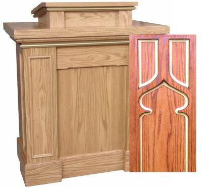 621 Pulpit with Gothic Trim