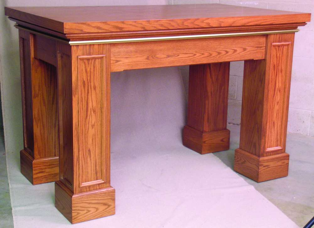 626 Altar Table with Gothic Trim