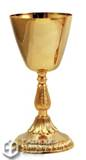 24k Gold Plated Brass Chalice from Italy h. 18,5 cm.?  The gilt is guaranteed