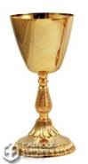 24k Gold Plated Brass Chalice from Italy