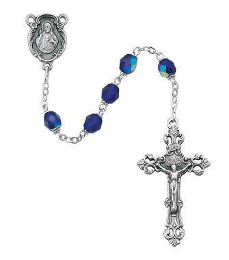 6MM Dark Blue Rosary