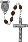6mm Brown Wood Rosary