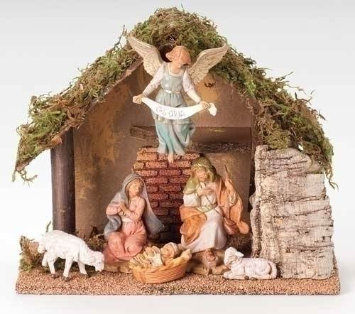 Fontanini 6 Piece Nativity Set with Stable