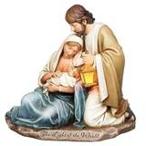 "7.25"" Holy Family Figurine with Lit Lantern"
