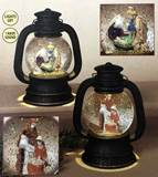 "7.5"" Asst Lighted Musical Waterglobe Lantern w/Nativity"