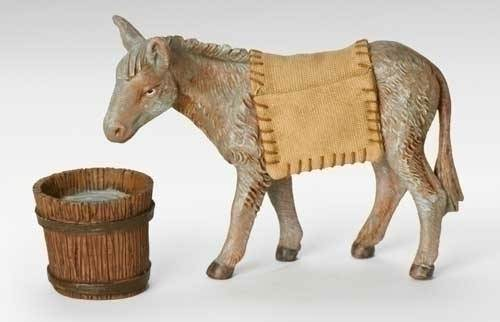 "7.5"" Fontanini Mary's Donkey, 3pc Set"