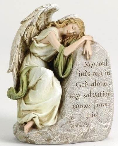 "7.5"" Memorial Angel  angel,  prayer angel, angel gift, memorial angel, comfort angel. angel statue, angel figure, 42083, healing angel, joseph studio, garden angel,"