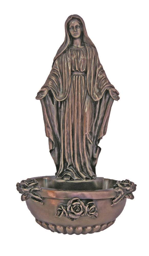 "7.5"" Our Lady Of Grace Holy Water Font"