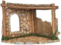 "Corner Stable for 5"" Nativity Figurines Fontanini"