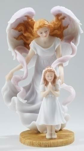 "7.75"" First Communion Seraphim Angel Statue with Girl *WHILE SUPPLIES LAST*"