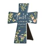 "7.75"" Trust in the Lord with All Your Heart Standing Cross"