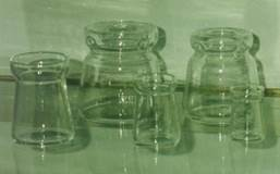 "Pyrex (Clear) Glass Followers for Special Wick Candles ?Type ""A""(fits all 7/8"" dia. candles)"