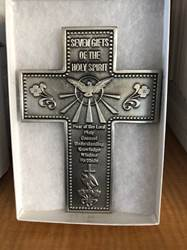 7 Gifts Of The Holy Spirit Cross Fine Pewter