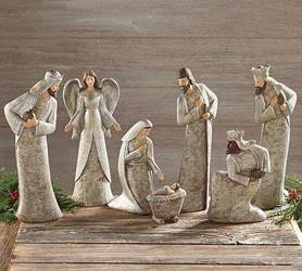 7 Piece Birch Nativity Set