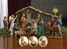 "7"" Scale Full 19pc First Christmas Gifts Nativity Set"