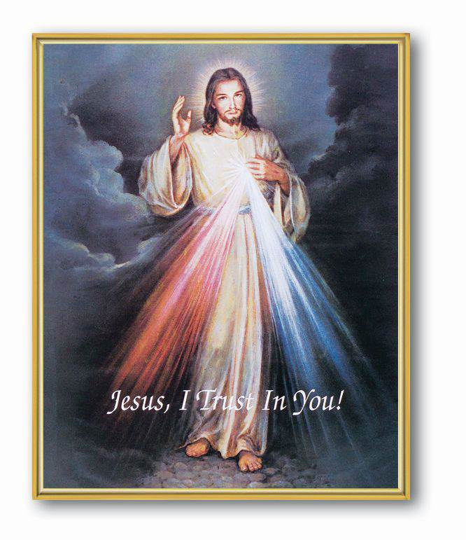 "8"" x 10"" Divine Mercy Plaque 