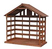 "72"" Large Scale Wood Stable *SOLD OUT - ADVANCE ORDERS ACCEPTED NOW FOR 2021* stable, nativity stable, wood stable, 36"" scale nativity, christmas stable, large scale stable, large stable, outdoor stable, wooden stable for outdoor"