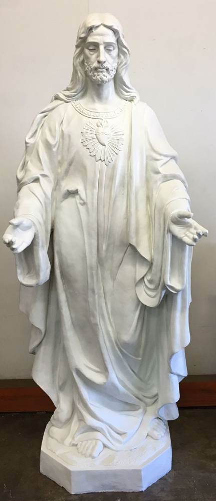 "75"" Sacred Heart of Jesus Statue-White"