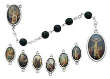 7mm Black 7 Sorrows Chaplet