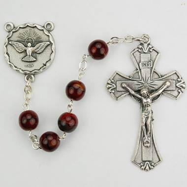 7mm Red/Black Holy Spirit Rosary