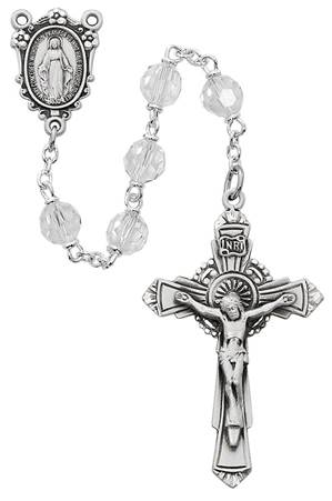 7mm Tin Cut Crystal Bead Rosary