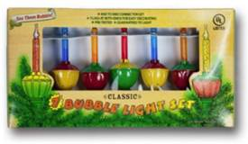 7pc Classic Bubble Light Christmas Candle Set