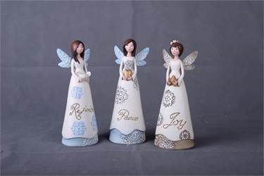 "8.25"" Assorted Lace Wing Angel Figurines"