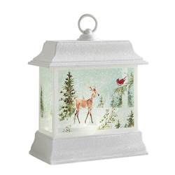"8.5"" Lighted Woodland Animal Water Lantern"
